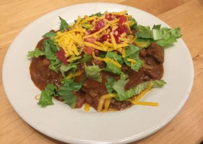 Indian Frybread Taco with Bison Chili